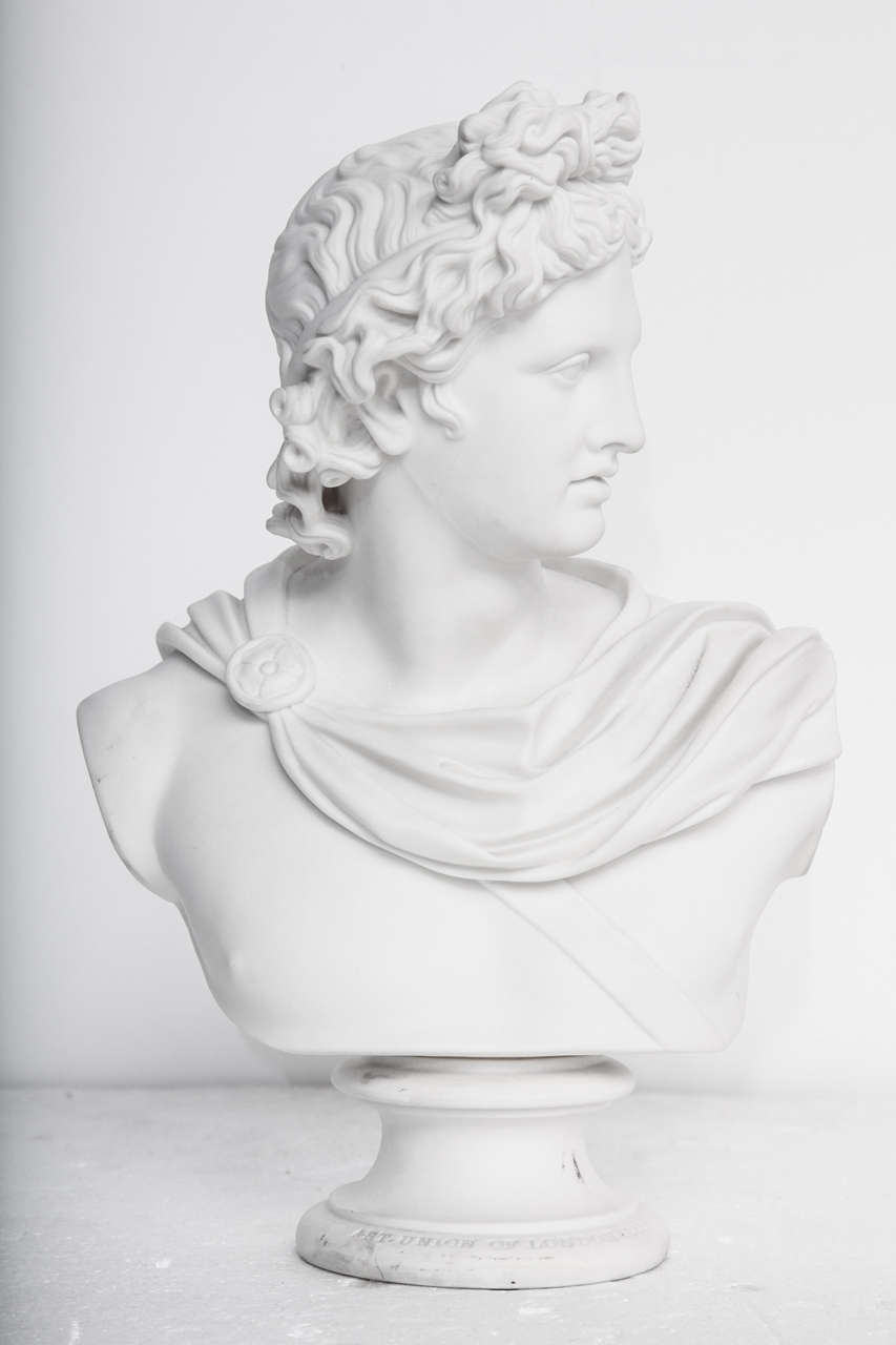 19th Century Art Union of London Bust of Apollo 2