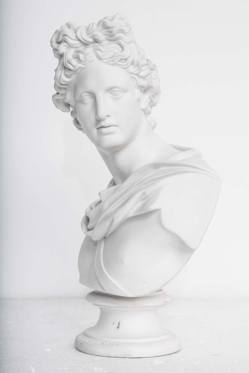 19th Century Art Union of London Bust of Apollo For Sale 1