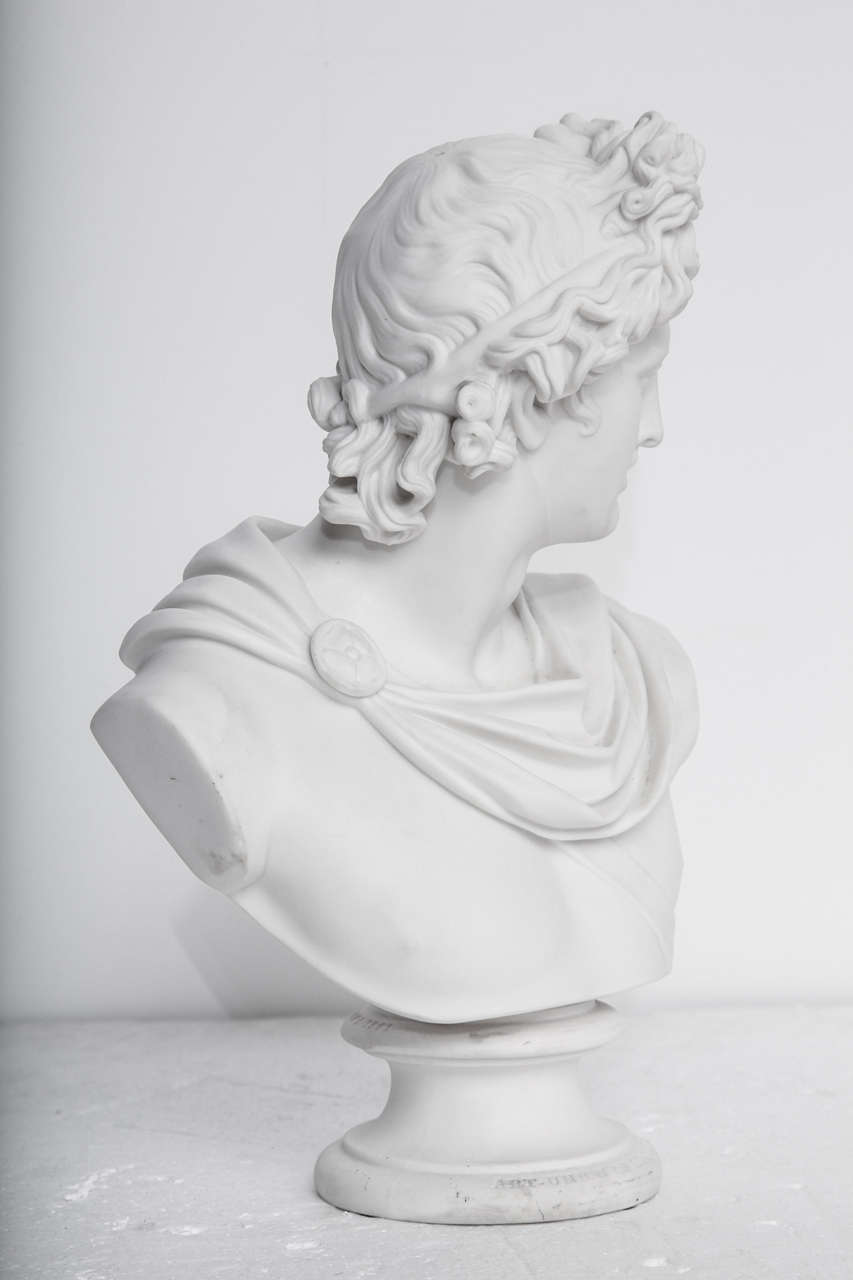 19th Century Art Union of London Bust of Apollo 8