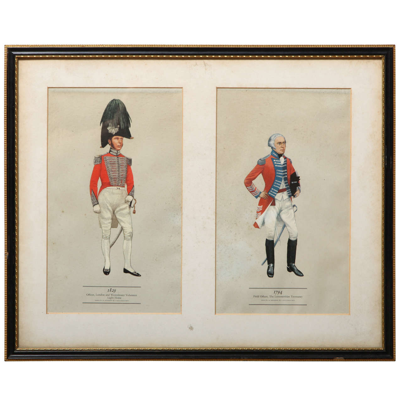 19th Century Coloured Print in a Hogarth Frame