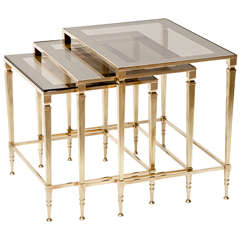 Nesting Brass Side Tables