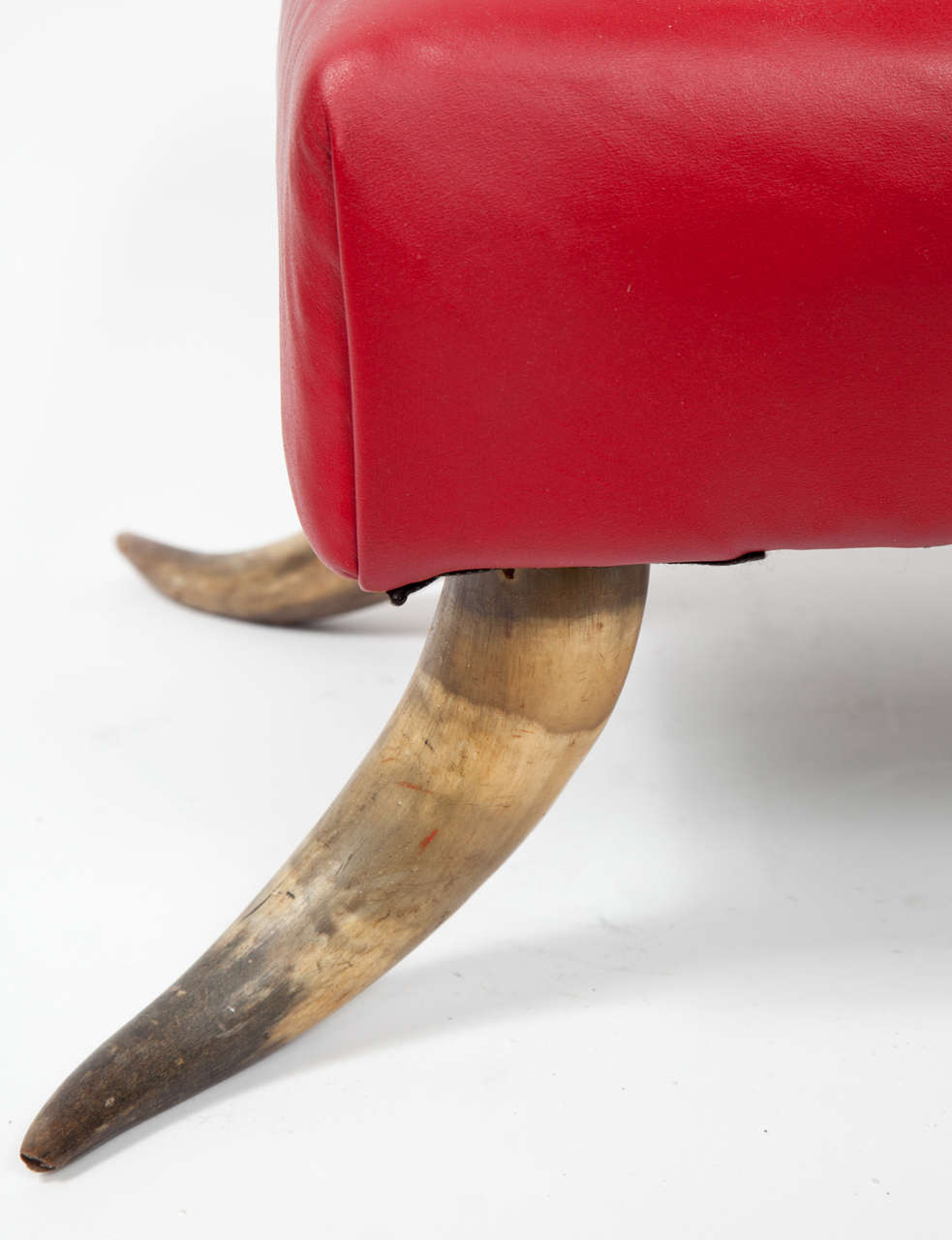 Small Stool With Horn Legs At 1stdibs