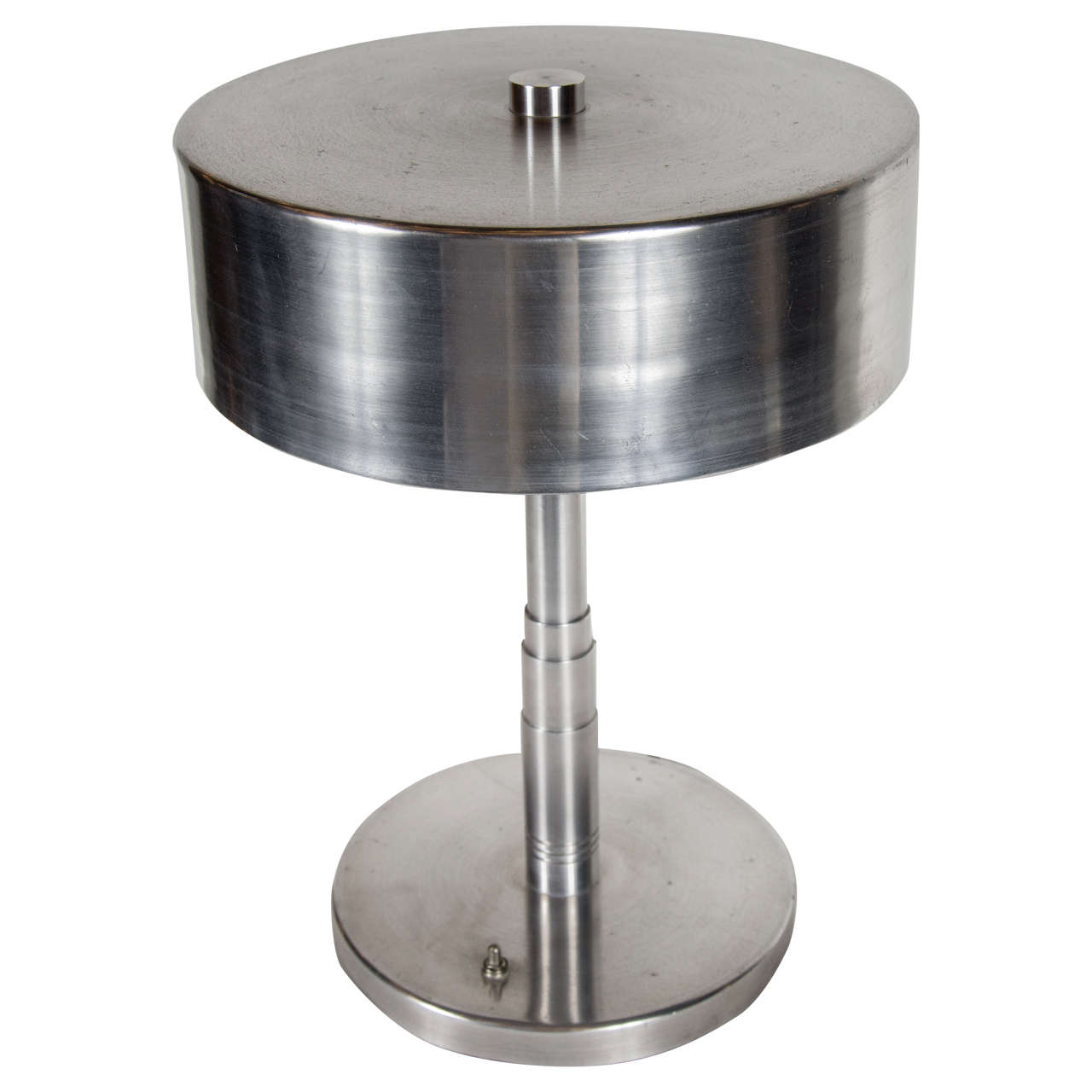 Art Deco Machine Age Desk Lamp in Brushed Nickel and ...