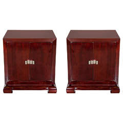 Pair of 1940s Hollywood Nightstands or End Tables by Grosfeld House