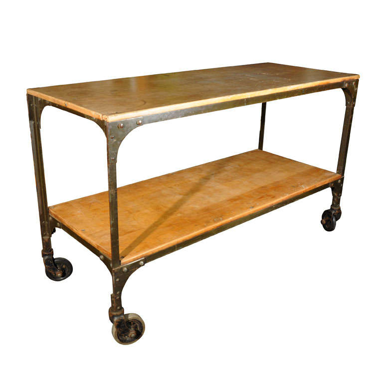 Industrial Work Table at 1stdibs : x from www.1stdibs.com size 768 x 768 jpeg 37kB