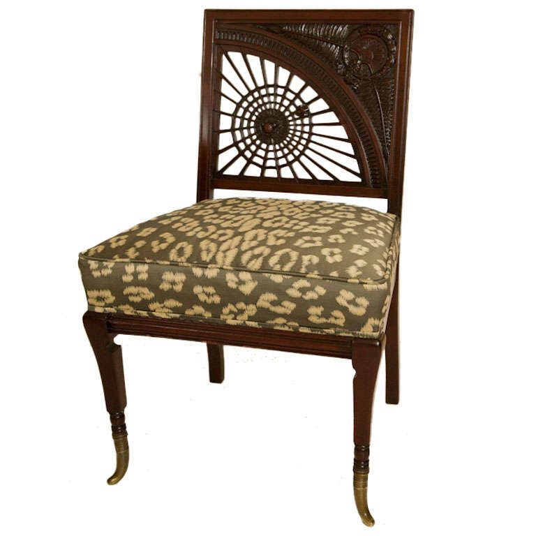 carved mahogany aesthetic movement spider chair at 1stdibs
