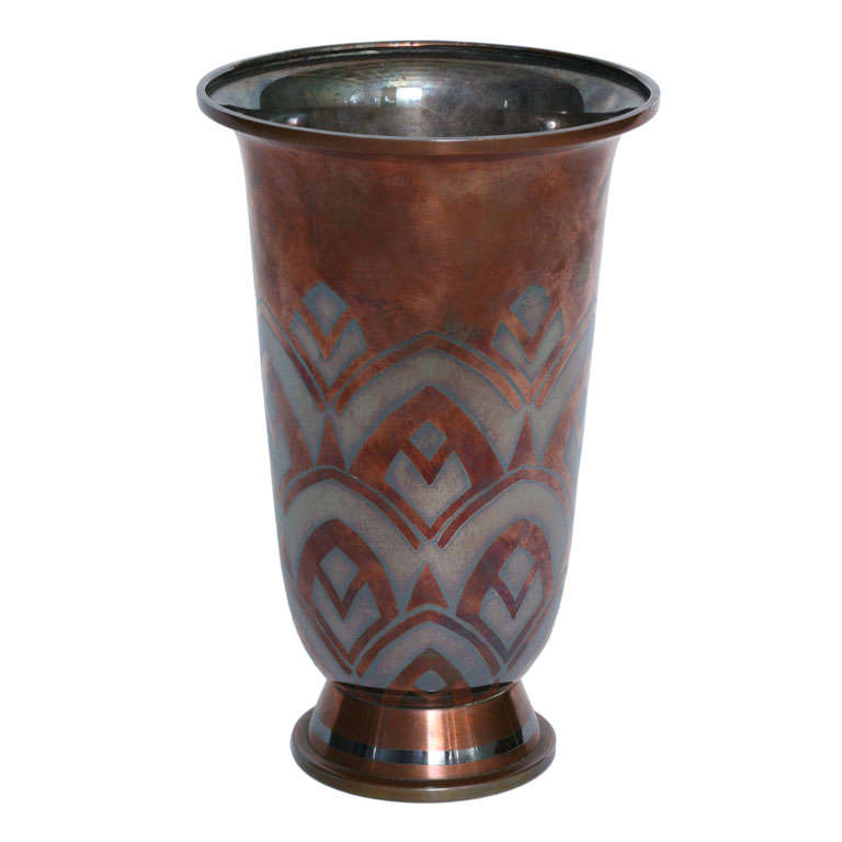 Luc lanel christofle vase at 1stdibs for Jill alberts jewelry highland park