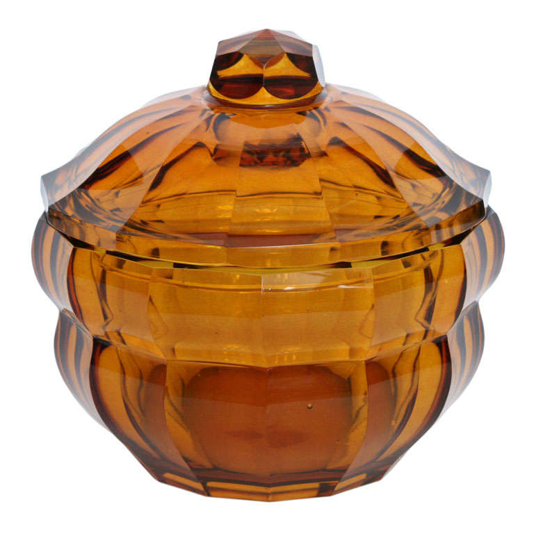 Josef Hoffmann Weiner Werkstatte Lidded Bowl For Sale