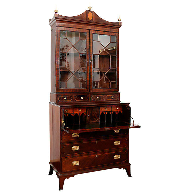 Southern Secretary Bookcase At 1stdibs