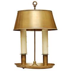 Oval Brass Bouilllotte Lamp