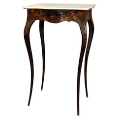 French Lacquered Side Table