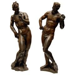 Bronze Figures of Apollo and Vulcan