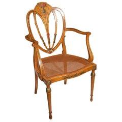 19th c. English Painted Adams Arm Chair