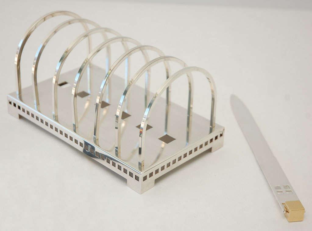Silver Plate Desk Set by Richard Meier for Swid Powell image 2