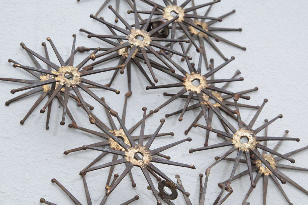 Degroot Starburst Metal Wall Sculpture At 1stdibs