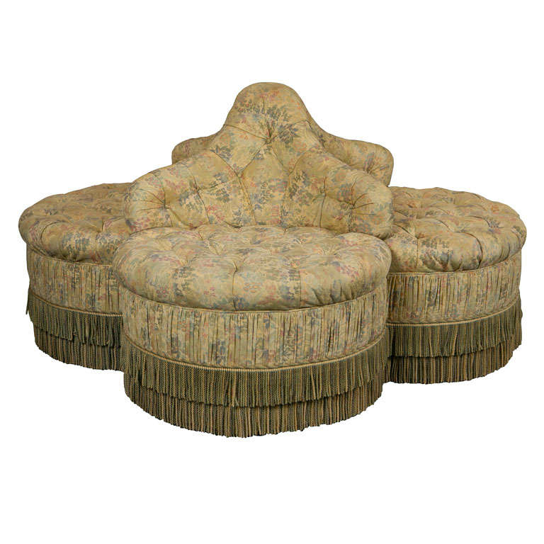 Upholstered Borne Or Circular Sofa At 1stdibs