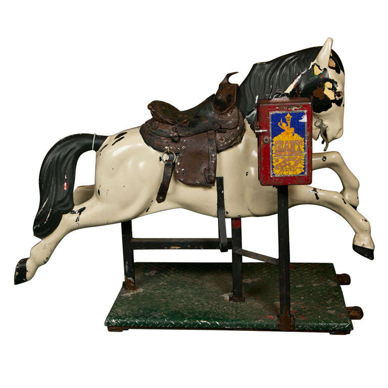 Antique Vintage Coin Operated Kiddie Mechanical Horse Ride For Sale