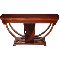 Machine Age Art Deco Flip-Top Console Table