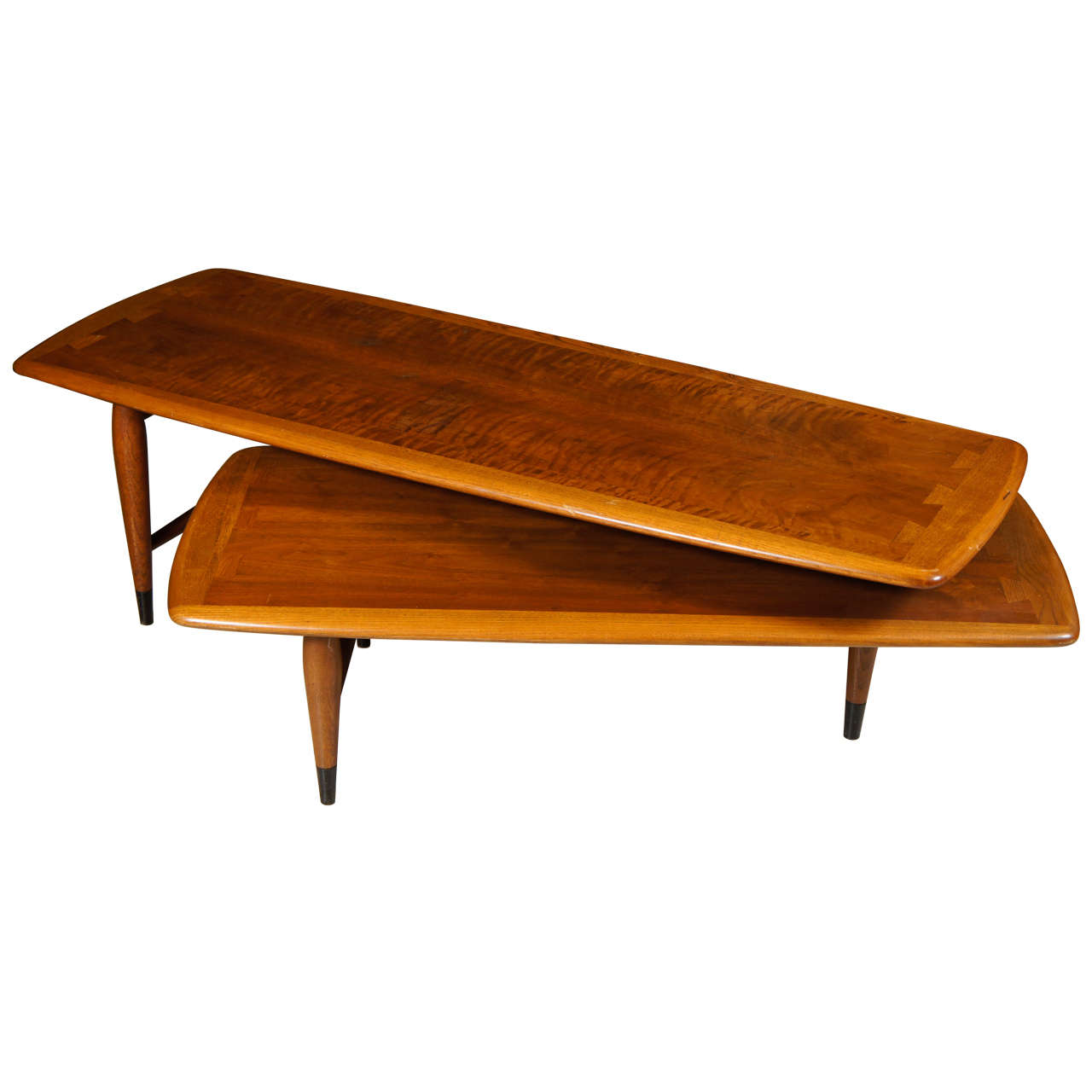 Two tiered adjustable coffee low table at 1stdibs for Adjustable coffee table