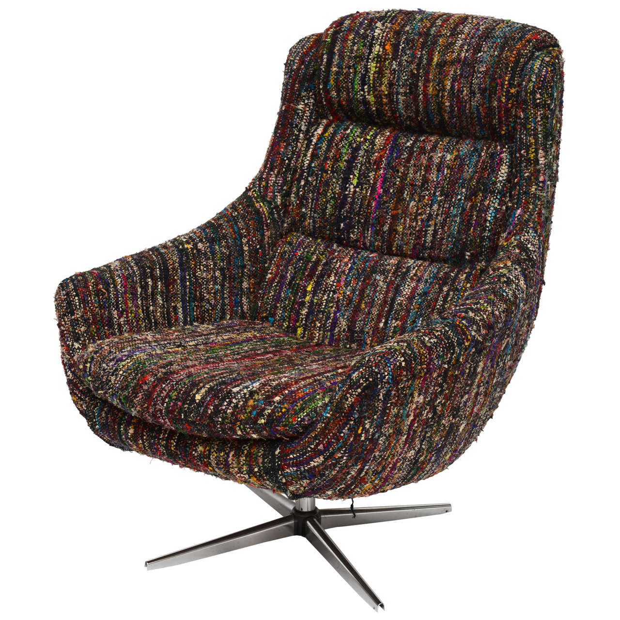 Custom Mcm Chair In Vintage Chanel Fabric 1960s At 1stdibs