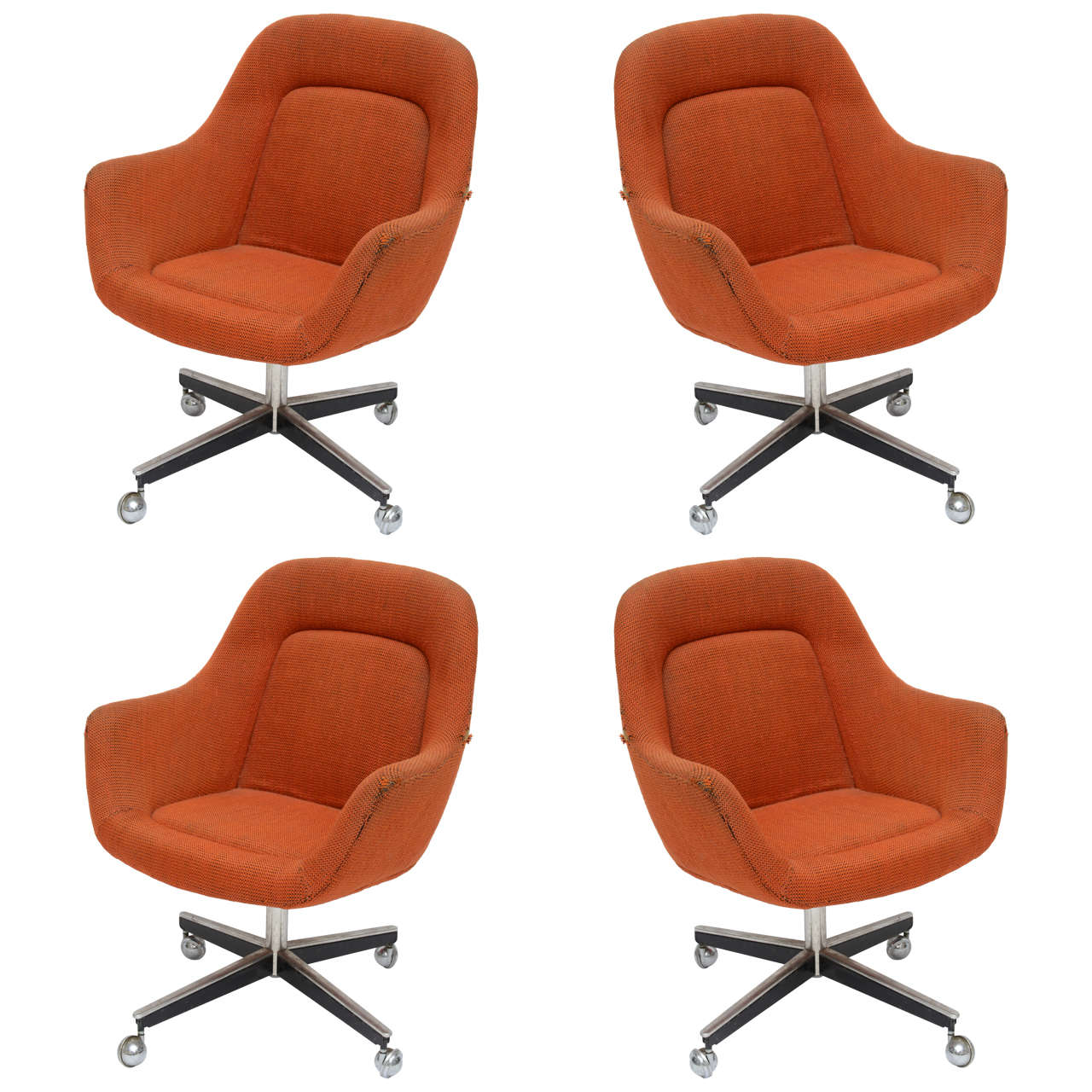 Max Pearson For Knoll Oversized Roller Chairs 1970s For Sale