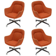 Max Pearson for Knoll Oversized Roller Chairs 1970s
