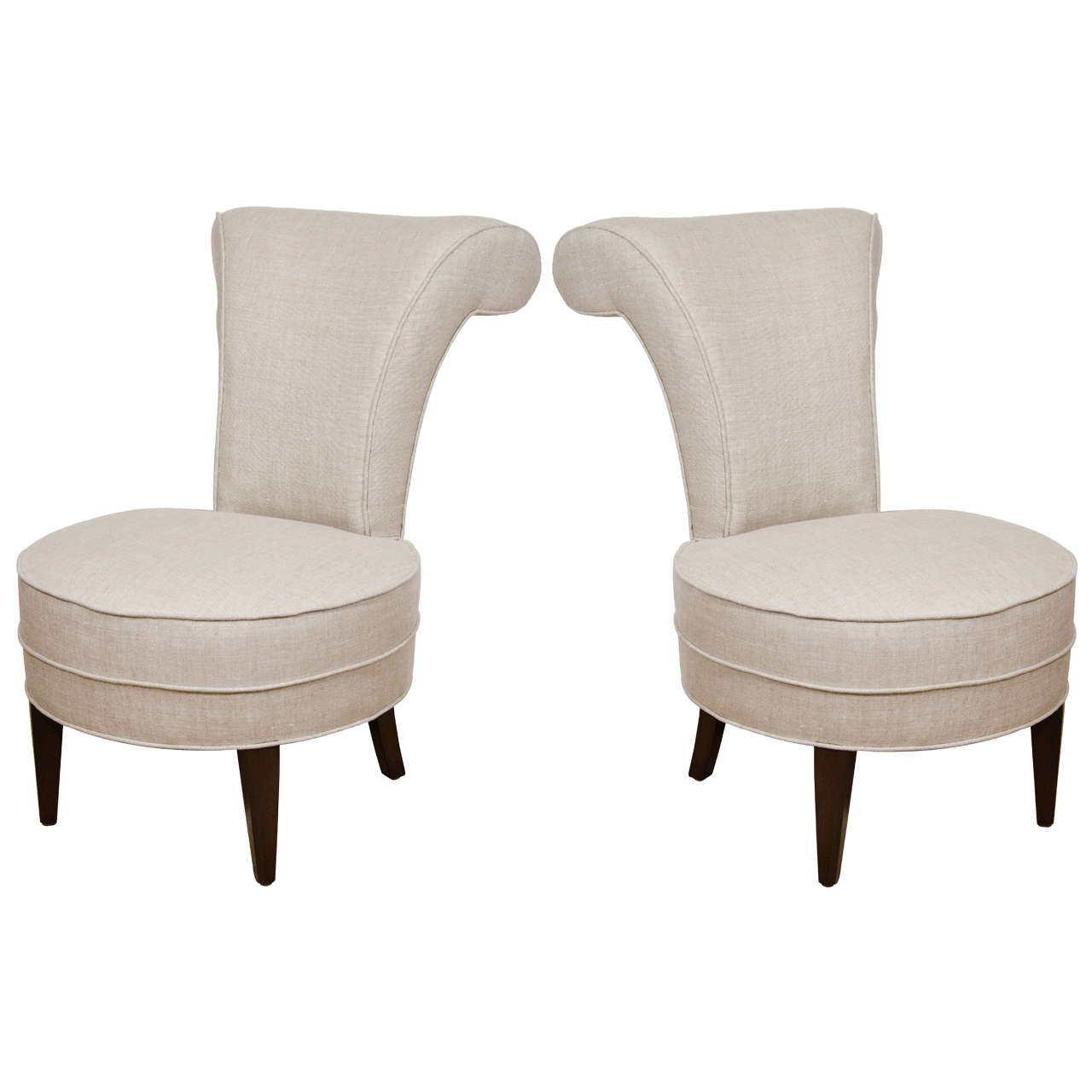 pair of french boudoir upholstered chairs 1