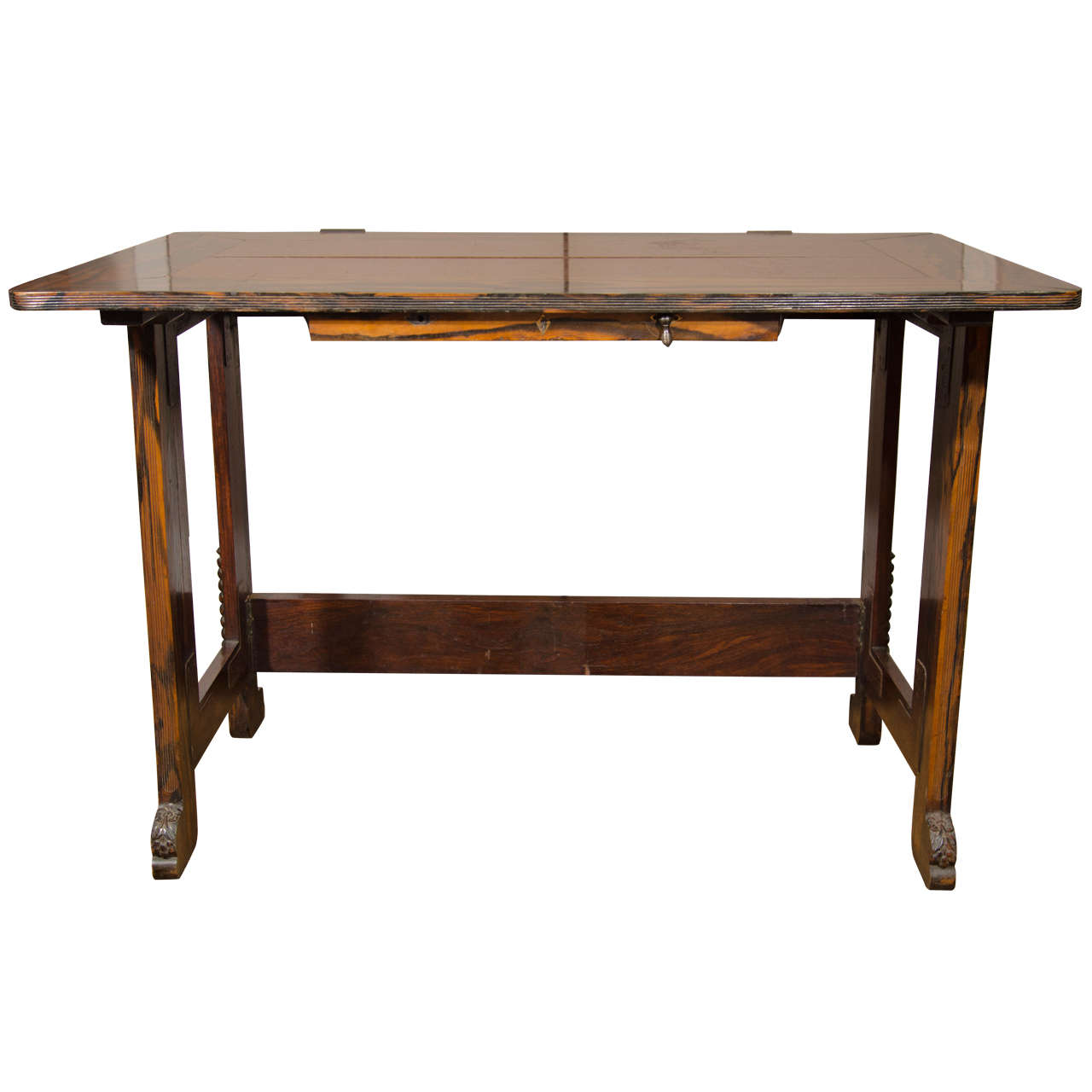 A unique anglo indian calamander and oak campaign writing for Unusual writing desks