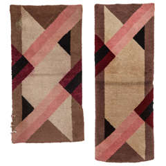 Pair of French Art Deco Rugs 1930's