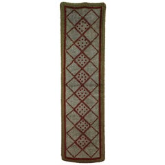 French Art Deco Narrow Rug