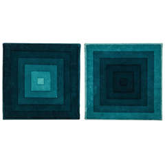 A Pair of Cotton Velvet 'Square' Hangings by Verner Panton for Mira-X