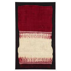 Vintage Moroccan Berber Henna-Dyed Wedding Veil