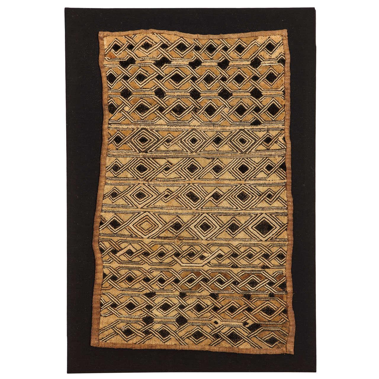 Vintage Kuba Raffia African Textile