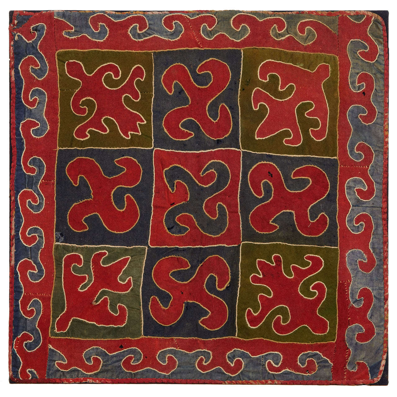 Antique Kirghiz Embroidered Textile