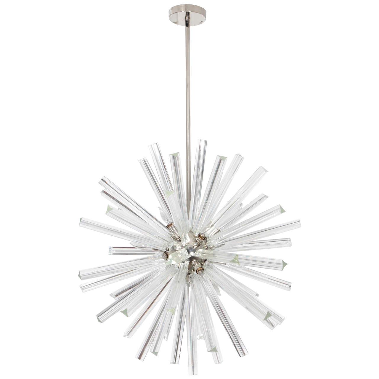 Exceptional Crystal Sputnik Chandelier