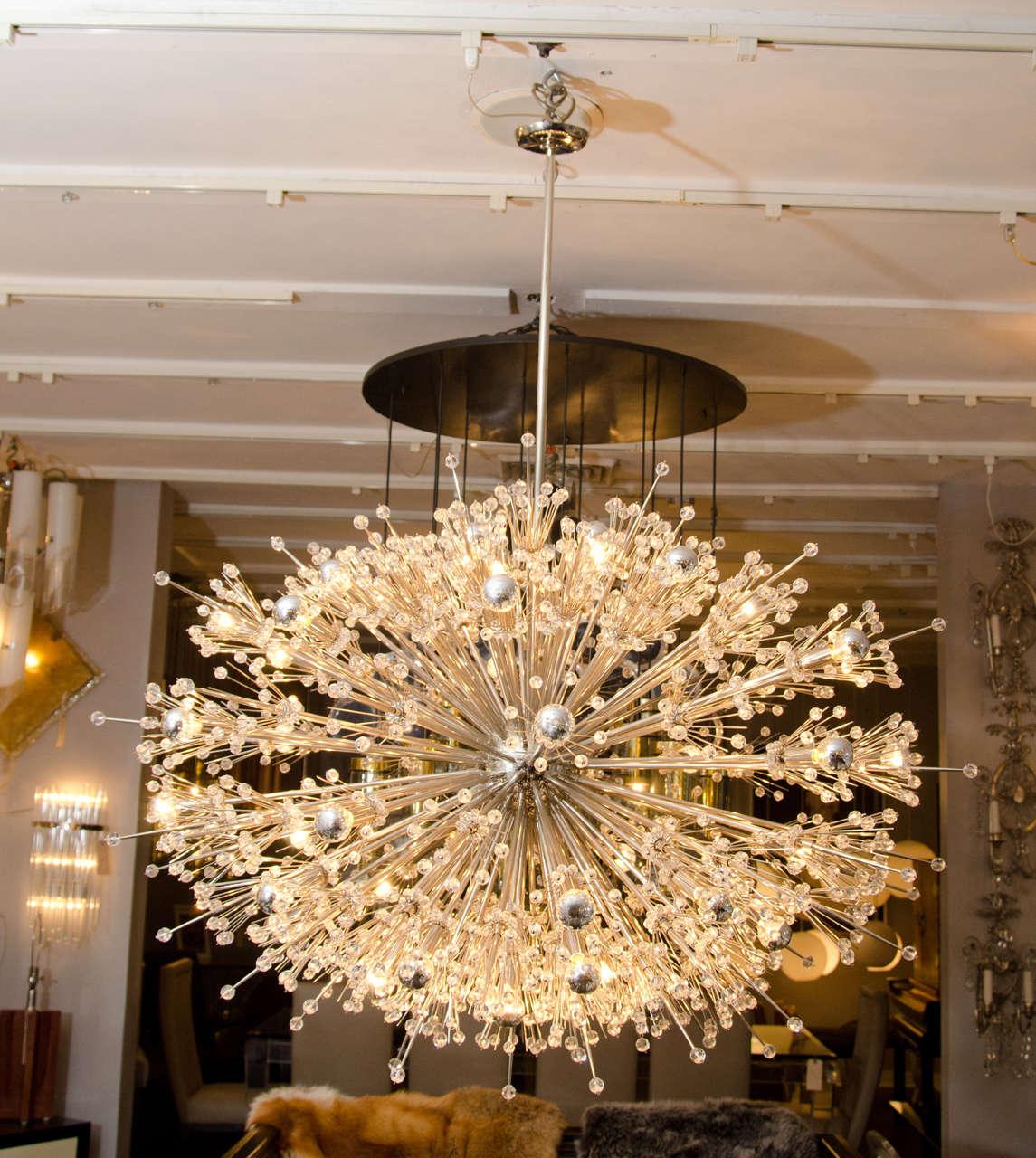 Monumental crystal Esprit Sputnik chandelier.