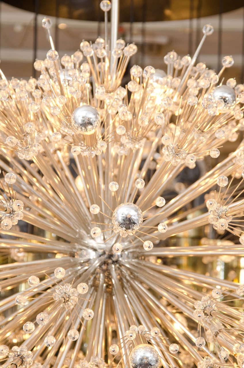 American Monumental Crystal Esprit Sputnik Chandelier For Sale