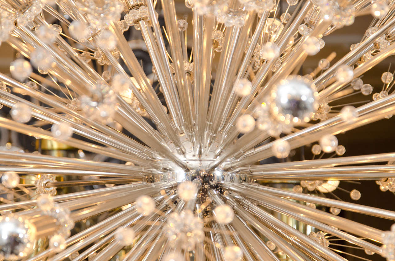 Monumental Crystal Esprit Sputnik Chandelier In Excellent Condition For Sale In New York, NY