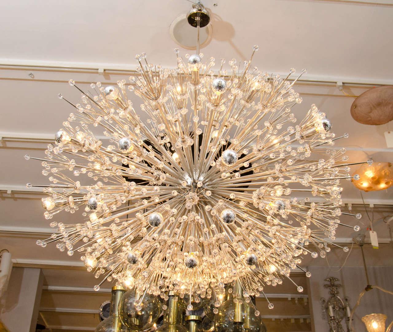 Contemporary Monumental Crystal Esprit Sputnik Chandelier For Sale