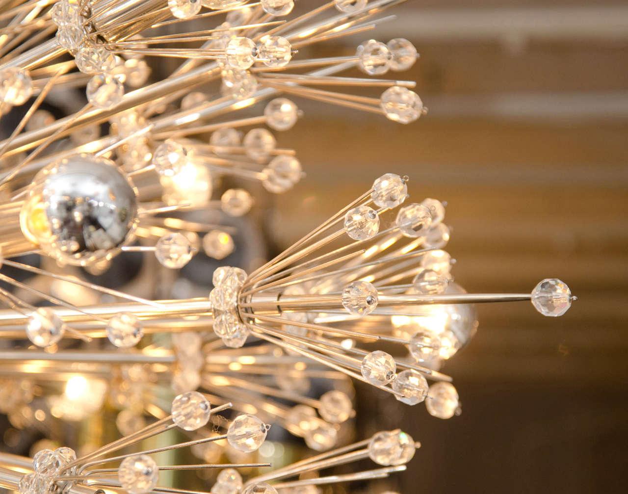 Monumental Crystal Esprit Sputnik Chandelier For Sale 2