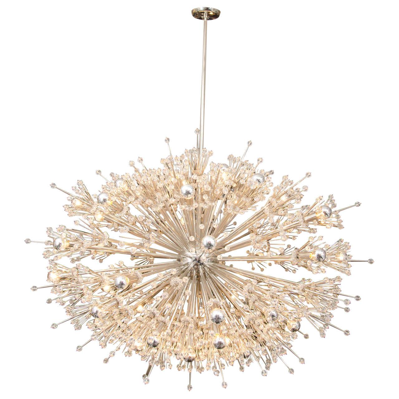 Monumental Crystal Esprit Sputnik Chandelier For Sale