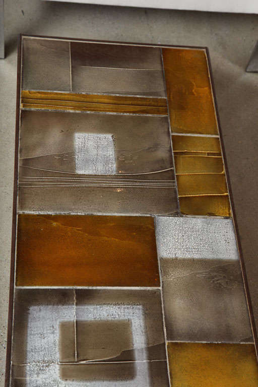 Coffee Table by Roger Capron with Lava Tiles In Excellent Condition For Sale In Brooklyn, NY