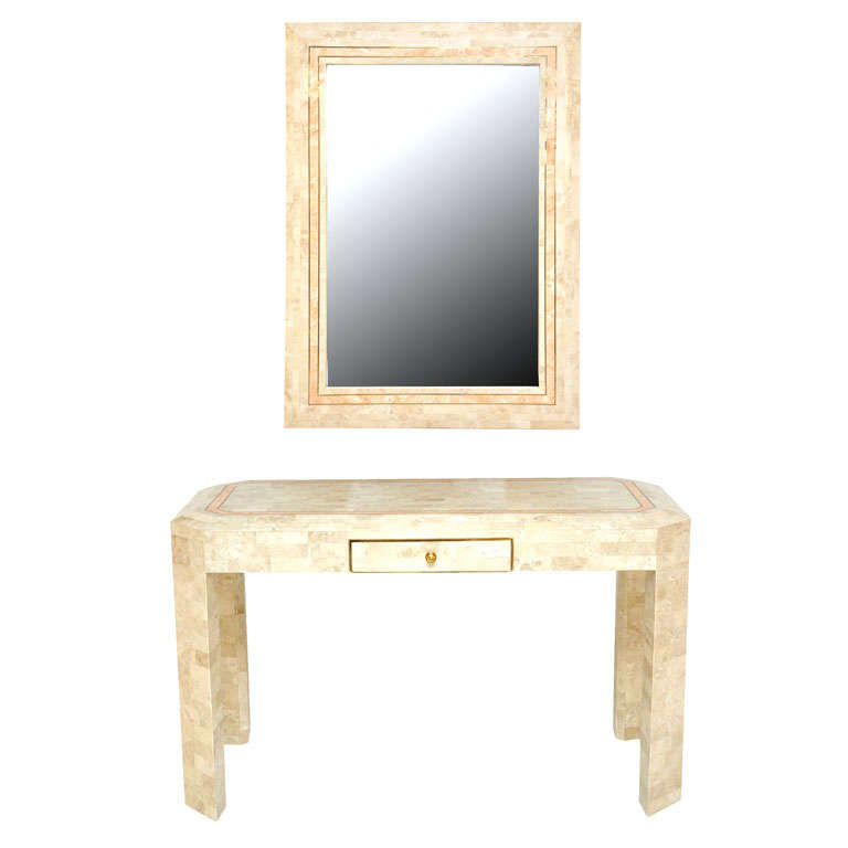Maitland Smith Stone Vanity Desk W Mirror At 1stdibs