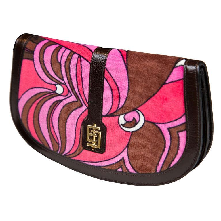 Pucci velvet clutch wallet