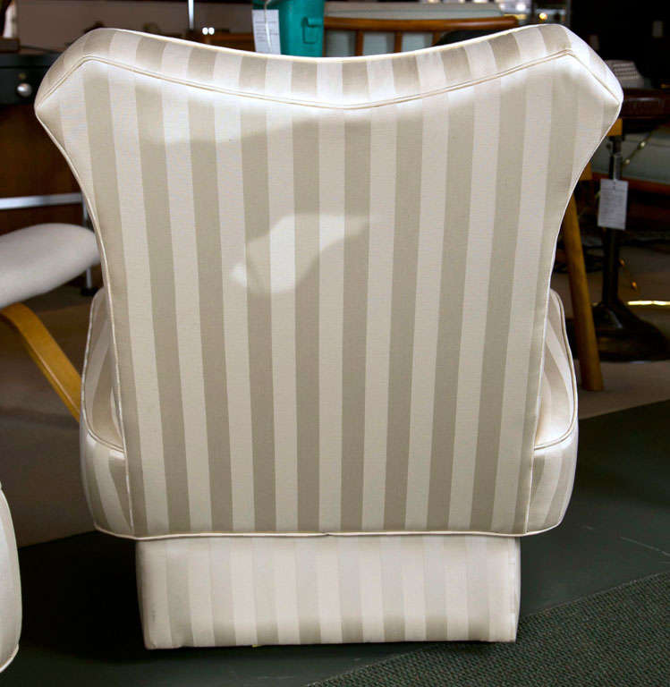 Pair of Slipper Chairs in the style of James Mont. For Sale 3