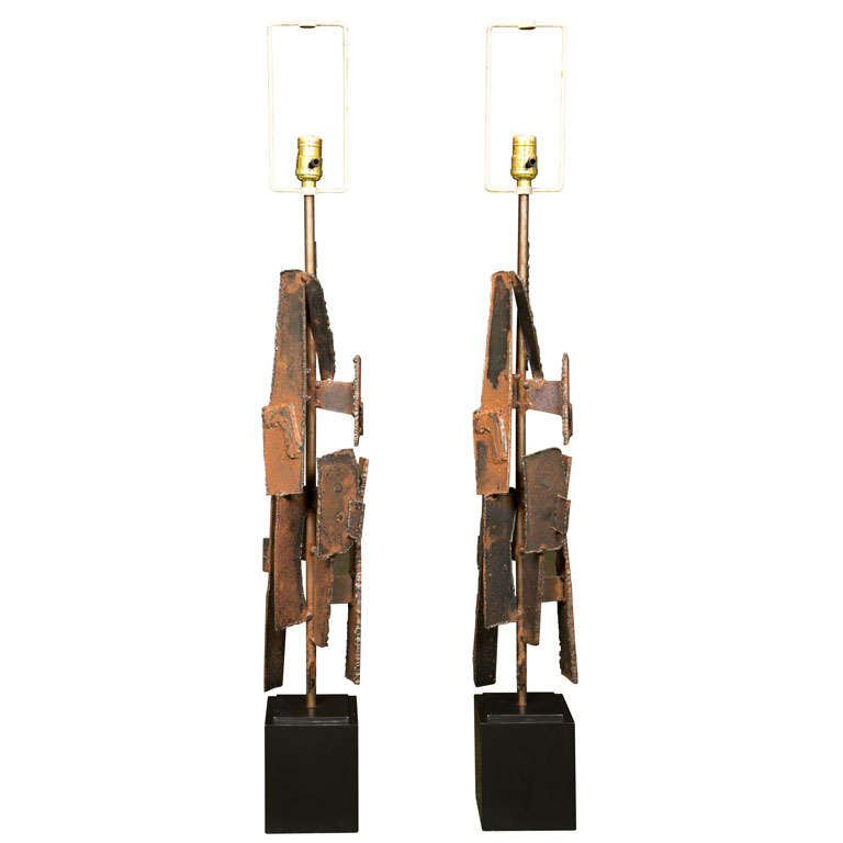 Sculptural Lamps by Richard Barr For Sale