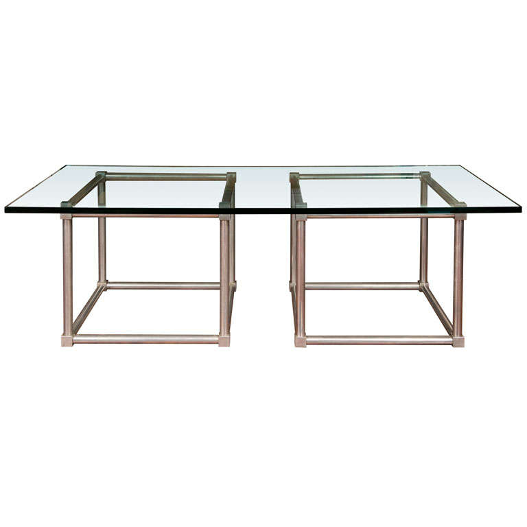 Aluminum Cube Coffee Table