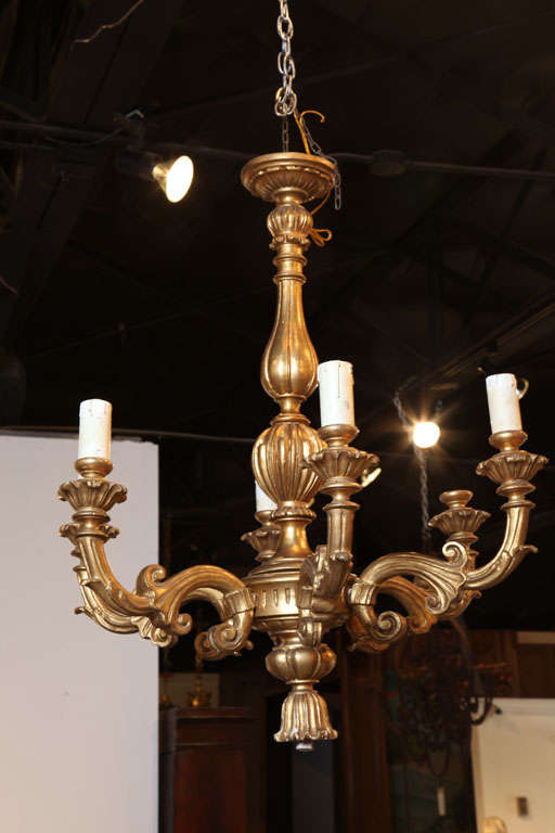 Louis Xv Style Giltwood Chandelier France At 1stdibs
