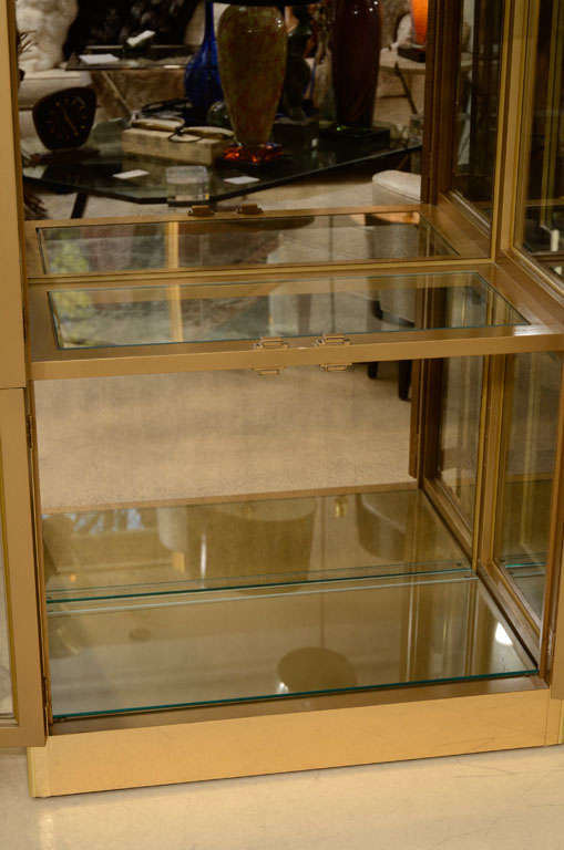 Mid-20th Century Vitrine Cabinet by Mastercraft, Brass, circa 1960 For Sale