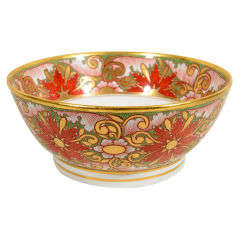 Minton Punch Bowl with Christmas Colors